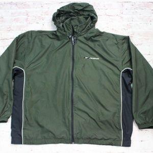 Men's Reebok Shell  Jacket Dark Green Size Large